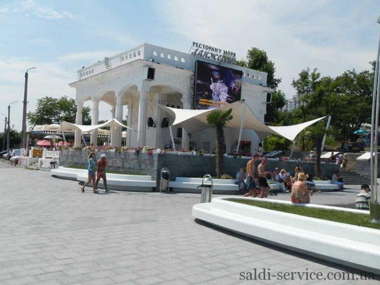 Тентовые растяжки пляж «Ланжерон» Одесса