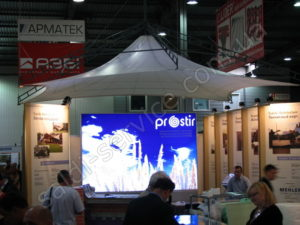"Awning exhibition stand in Kiev ""Expo Plaza"""