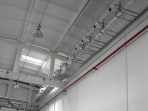 Ventilation installation in industrial and warehouse premises