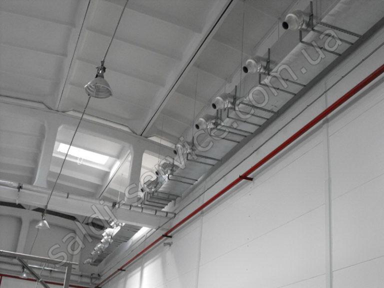 Установка вентиляции в производственных и складских помещениях