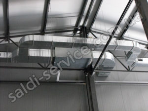 Mineral fertilizer storage ventilation