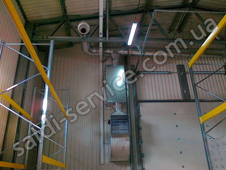 Вентиляция на складе минеральных удобрений