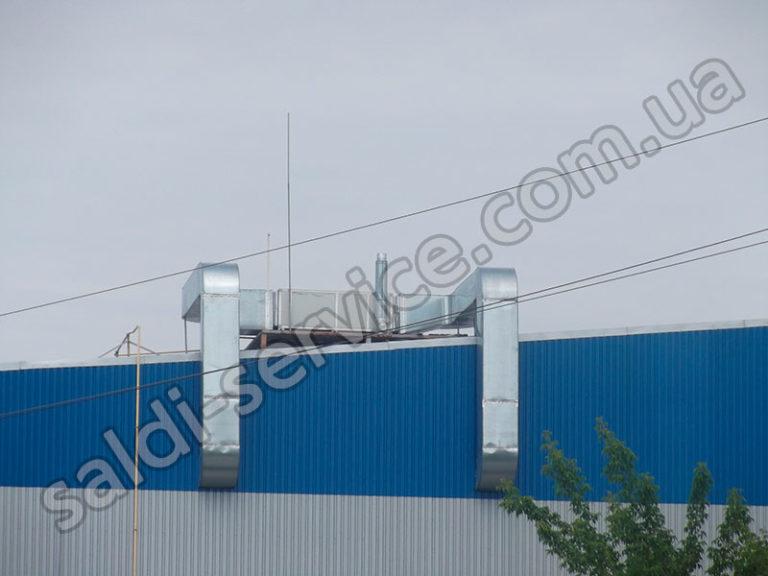 Вентиляция СТО и складские помещения
