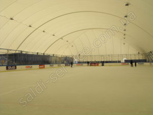 Air support structure ice rink Obolon inside