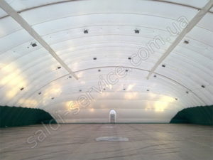 Air support structure tennis courts Rostov-on-Don inside
