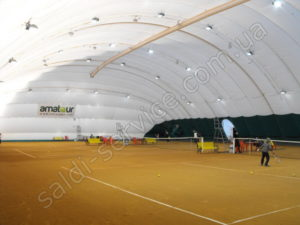 Air support structure tennis courts in Kiev inside