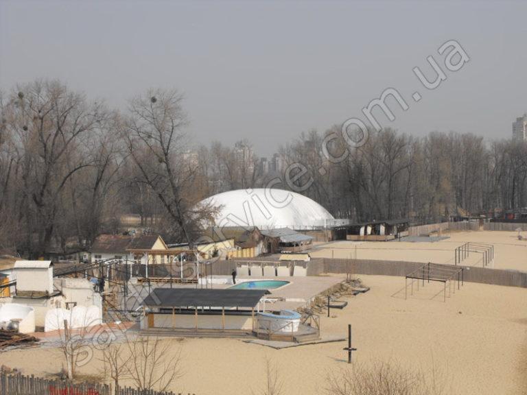 Воздухоопорная конструкция в Гидропарке