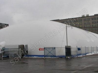 Воздухоопорная конструкция в картинг-клубе