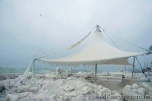 Freezing of an awning design Odessa