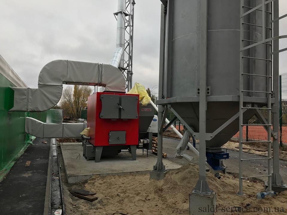 Запуск пеллетного воздушного оборудования PEL H-300-8