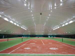 LED lighting of 6 tennis courts in the Sunrise club, Dnipro (1)
