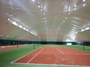 LED lighting of 6 tennis courts in the Sunrise club, Dnipro (2)
