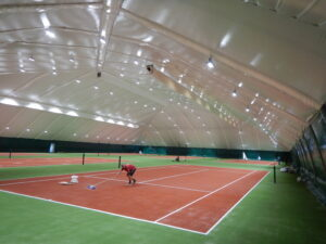 LED lighting of 6 tennis courts in the Sunrise club, Dnipro (4)