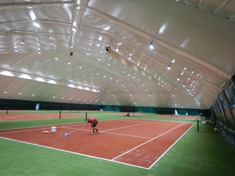 LED освещение 6-ти теннисных кортов в клубе Восход г. Днепр (4)