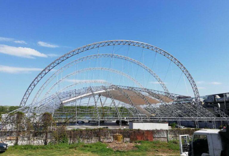 Металлоконструкция клуб Восход в городе Днепр (2)