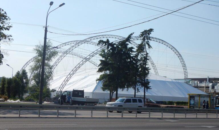 Металлоконструкция клуб Восход в городе Днепр (5)