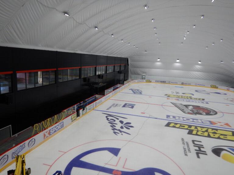 Освещение ледовой арены светодиодными прожекторами г. Мариуполь (5)