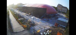 Закінчили монтаж повітряопірної конструкції купола у Маріуполі для накриття льодового катка (2)