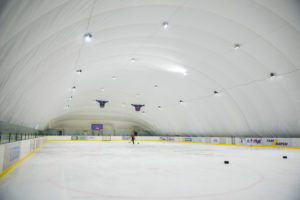 LED lighting of the ice rink at EANE in Kiev (1)