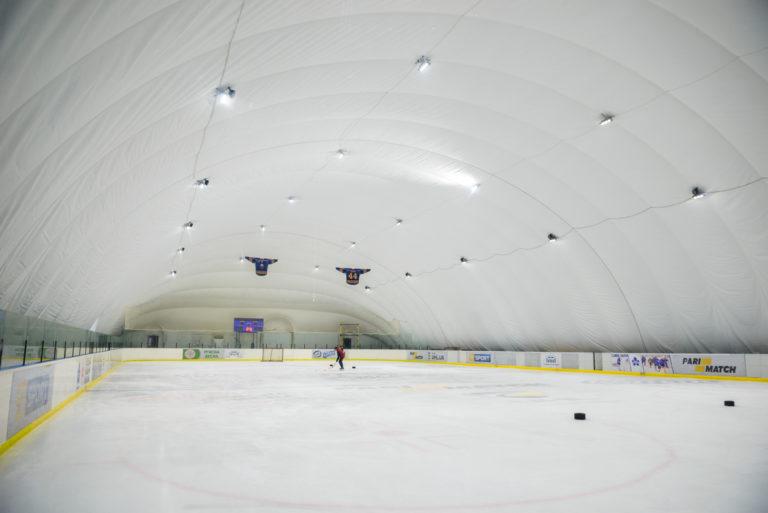Освещение LED ледового катка на ВДНХ в Киеве (1)