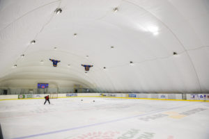 LED lighting of the ice rink at EANE in Kiev (2)
