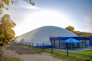 Air-supported structure for ice rink exhibition center in Kiev (1)