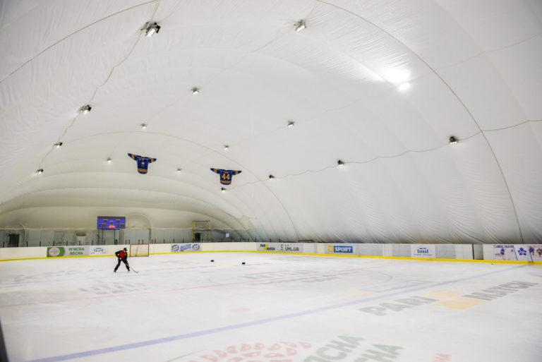 Воздухоопорная конструкция для ледового катка ВДНХ в Киеве (5)