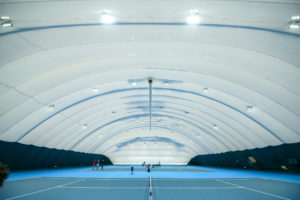 Air-supported structure for tennis court in Zhulyany (1)