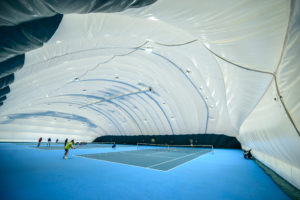 Air-supported structure for tennis court in Zhulyany (2)