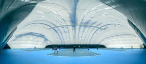 Air-supported structure for tennis court in Zhulyany (3)