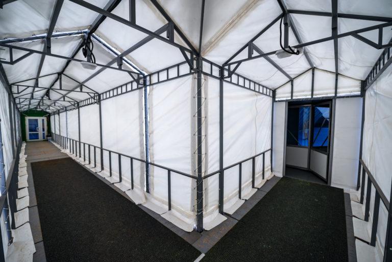 Воздухоопорная конструкция для теннисного корта в Жулянах (8)